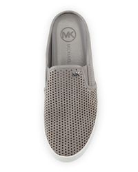 MICHAEL Michael Kors - Gray Brett Leather Slip-On Mules - Lyst