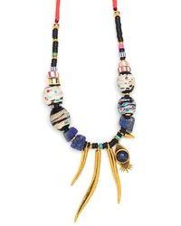 Lizzie Fortunato | Metallic Amulet Necklace | Lyst