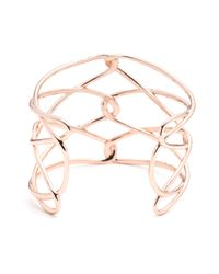 Alexis Bittar | Metallic Liquid Rose Gold Barbed Cuff | Lyst