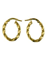 Lord & Taylor | 14k Yellow Gold Textured Hoop Earrings | Lyst