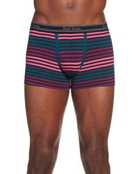 Paul Smith - Black Stripe Stretch Cotton Trunks for Men - Lyst