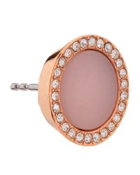 Michael Kors | Pink Blush Pave Stud Earrings | Lyst