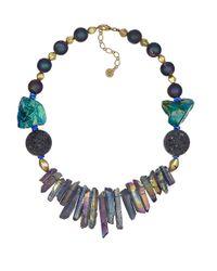 Sam Edelman | Multicolor Graduated Stone Necklace | Lyst
