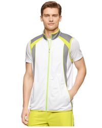 Calvin Klein | White Performance Colorblocked Full-zip Running Vest for Men | Lyst
