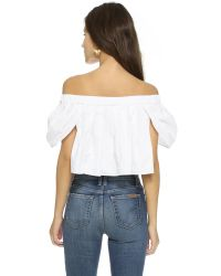 MLM Label - Willow Crop Top - White - Lyst