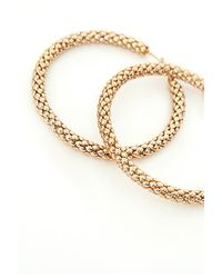 Missguided - Metallic Large Thick Hoop Earrings Gold - Lyst