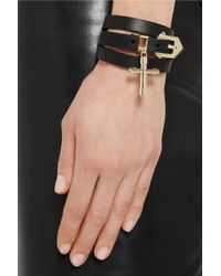 Givenchy - Double Wrap Bracelet in Black Leather - Lyst