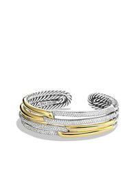 David Yurman - Metallic Labyrinth Double-loop Cuff Bracelet Bracelet With Diamonds And Gold - Lyst