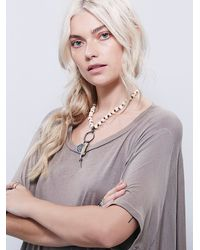 Free People - Natural Fp Beach Womens Emma Love Tee - Lyst