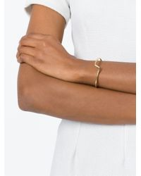 JvdF | Metallic Gold Plated Sterling Silver Medium Angle Bangle | Lyst