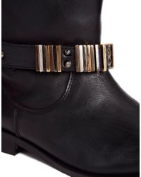 Carvela Kurt Geiger | Black Tommy Biker Ankle Boot | Lyst