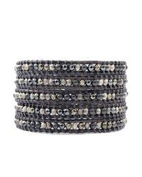 Chan Luu - Gray Mixed Pearl Wrap Bracelet - Lyst