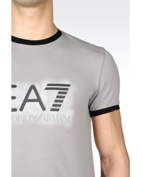 EA7 - Gray Short Sleeved T-shirt for Men - Lyst