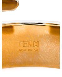 Fendi Metallic 'baguette' Cuff