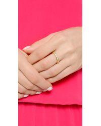 Gorjana | Metallic Blakely Ring - Gold/clear | Lyst
