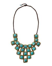 Panacea - Blue Chalcedony Rope Bib Necklace - Lyst