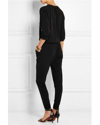MICHAEL Michael Kors - Black Stretch-crepe Jumpsuit - Lyst