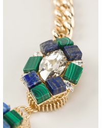 Anton Heunis | Green Embellished Chain Necklace | Lyst
