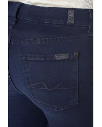 7 For All Mankind Blue Slim Illusion Luxe Kimmie Bootcut