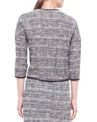Akris Punto - Black Reversible Contrast-piped Tweed Jacket - Lyst