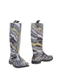 Just Cavalli - Gray Boots - Lyst
