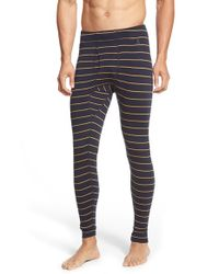 Smartwool - Blue Stripe Merino Wool Thermal Pants for Men - Lyst