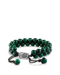 David Yurman | Green Spiritual Beads Two-row Bracelet With Malachite for Men | Lyst