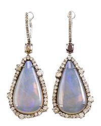 Kimberly Mcdonald | Purple Opal Cut Diamond Earrings | Lyst