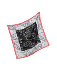 Vivienne Westwood - Black Apollo Wings Print Twill Silk Square Scarf - Lyst