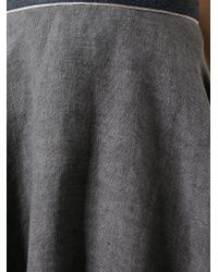 Societe Anonyme - Gray Pleated Circle Skirt - Lyst