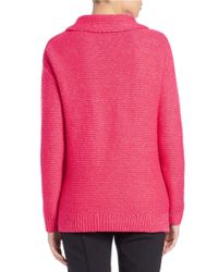 424 Fifth - Pink Funnelneck Sweater - Lyst