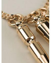 Alexandre Vauthier | Metallic Spike Pendant Necklace | Lyst
