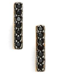 Nadri | Metallic Pave Bar Stud Earrings | Lyst