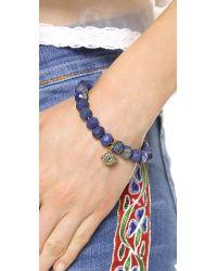 Juicy Couture Blue Pave Color Crush Genuine Beaded Bracelet Lapis