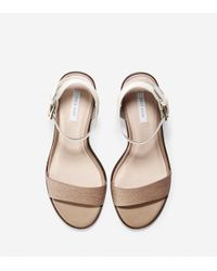 Cole Haan - Natural Cambon Mid Sandal (65mm) - Lyst