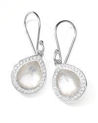 Ippolita | White Rock Candy Diamond Doublet Teardrop Earrings | Lyst