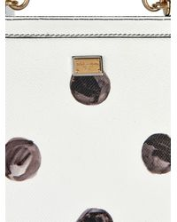 Dolce & Gabbana - White Sicily Mini Polka-Dot Leather Bag - Lyst