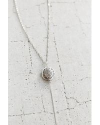 Vanessa Mooney - Metallic Chantal Silver Rosary Necklace - Lyst