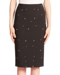 Elizabeth and James | Black Lima Grommet Pencil Skirt | Lyst