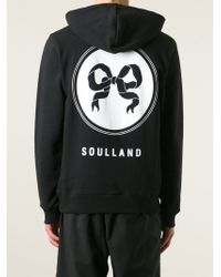 Soulland - Black 'eclipse' Hoodie for Men - Lyst