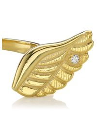 Aamaya By Priyanka | Metallic Gold Plated Wing Ring | Lyst