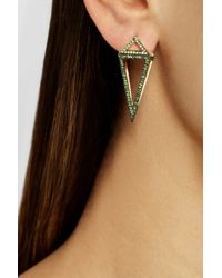 Noor Fares | Red Pendulum 18karat Gold Multistone Earrings | Lyst
