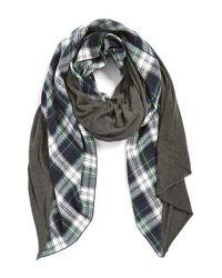 Donni Charm | Blue 'Tartan Diagonal' Blanket Scarf | Lyst