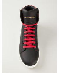 Alexander McQueen | Black High-Top Sneakers for Men | Lyst