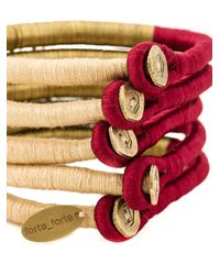 Forte Forte - Red Wrap Bangle - Lyst