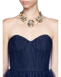 Erickson Beamon - White 'stratosphere' Crystal Faux Pearl Cluster Necklace - Lyst