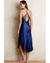 Anthropologie   Blue Sapphire Charmeuse Nightgown   Lyst