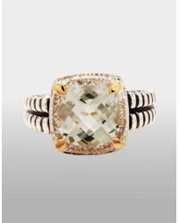 Lord & Taylor | Brown Sterling Silver And 14k Yellow Gold Multi Ring | Lyst