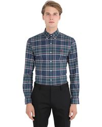 Polo Ralph Lauren | Green Slim Fit Plaid Cotton Oxford Shirt for Men | Lyst