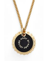 Marc By Marc Jacobs | Black 'lost & Found' Bottle Cap Pendant Necklace | Lyst